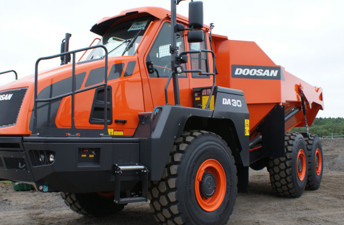 Doosan's new DA30 Articulated Dump Truck gets UK debut
