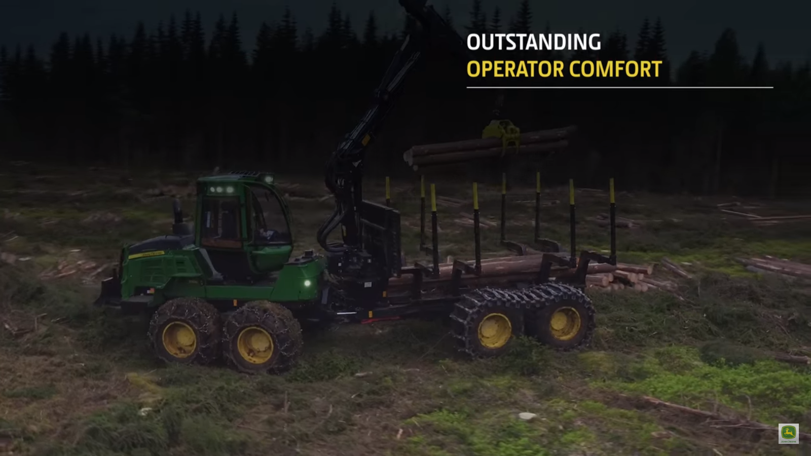 John Deere forestry 1510G forwarder in action   Industrial