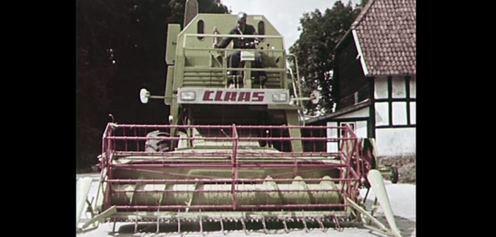 Looking back at the Claas Mercator combine