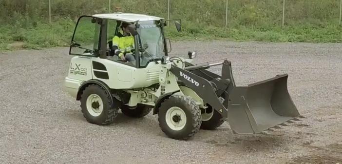 Volvo CE showcases LX2 electric wheel loader concept