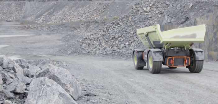 Volvo's fully electric mining site
