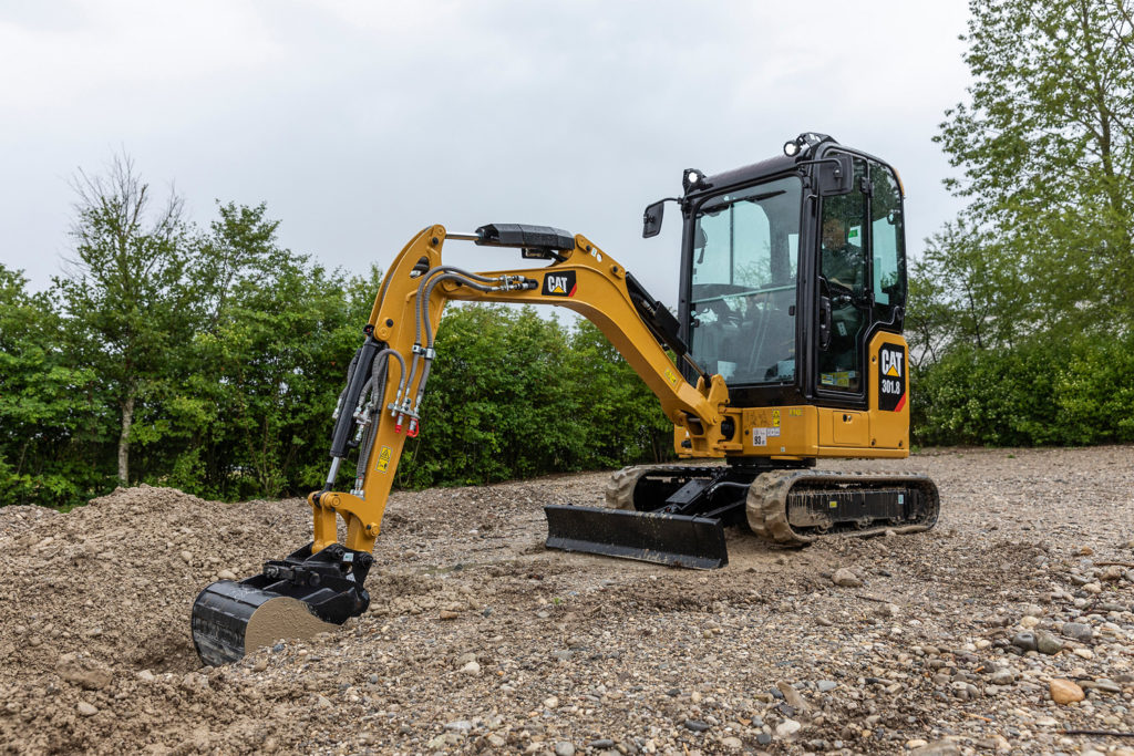 Caterpillar's quintuplet of mini-hydraulic excavators