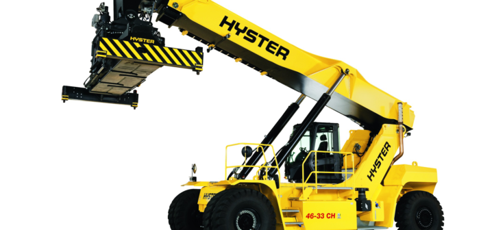 Hyster working on hydrogen fuel cell reach stacker