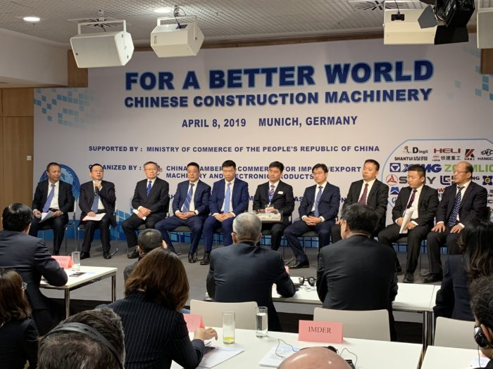 Chinese construction businesses expand networks at Bauma