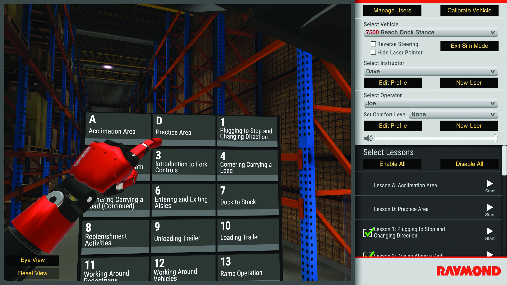 Forklift Virtual Reality Simulator developers on recent IFOY