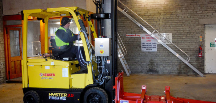 Pyroban reduces Chivas Brothers fire risk with adapted Hyster lift trucks