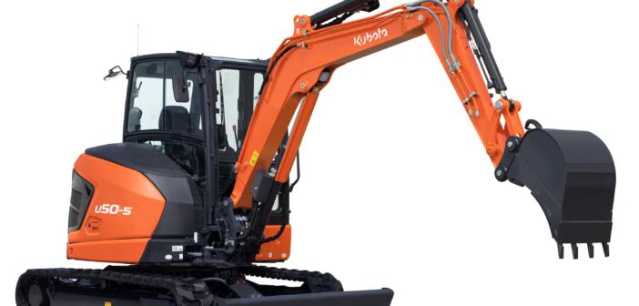 Kubota unveils mini-excavator to complete 5-tonne series