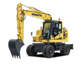 Komatsu introduces new wheeled excavator