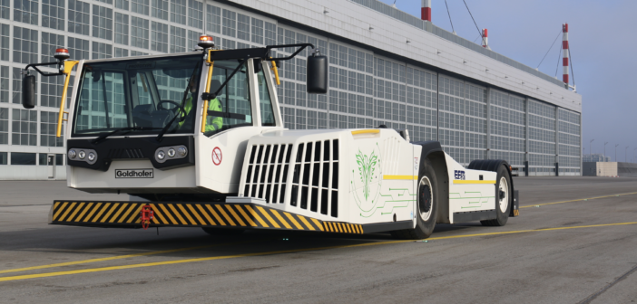 Goldhofer aircraft tractor goes electric