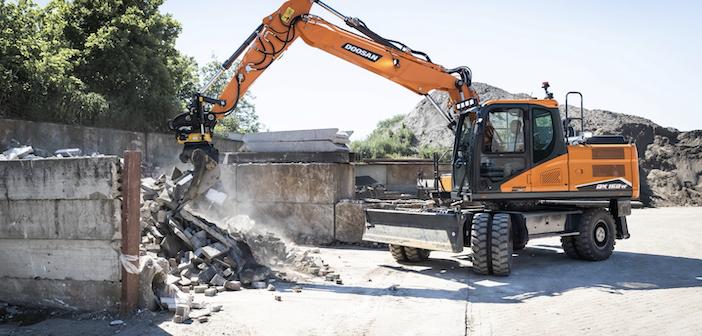 Doosan raises curtain on next-gen DX140W-7 and DX160W-7 wheeled excavators